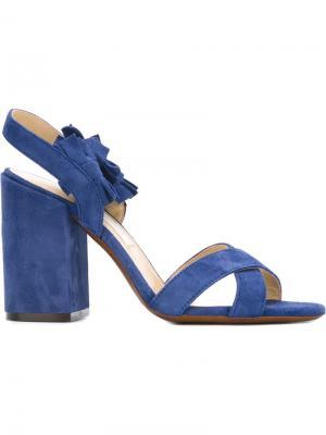 Босоножки с бахромой LAutre Chose L'Autre. Цвет: синий