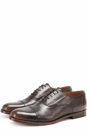 Классические кожаные оксфорды Doucals Doucal's. Цвет: коричневый