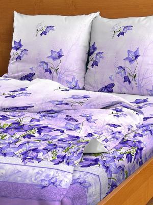 Комплект постельного белья Letto. Цвет: фиолетовый
