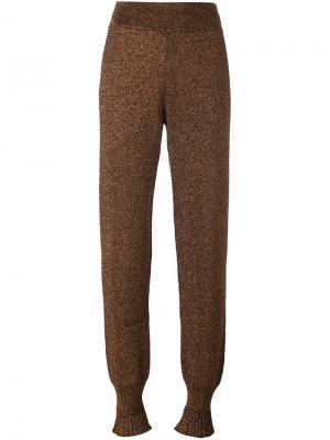Зауженные брюки Lanvin. Цвет: металлический