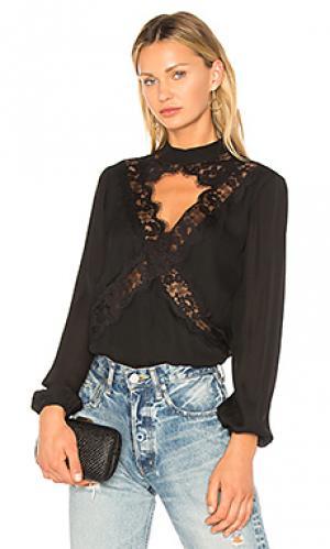 Шелковая блузка the skylar CAMI NYC. Цвет: черный