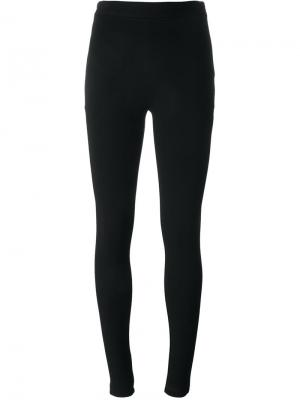 Леггинсы с вышивкой Givenchy. Цвет: чёрный