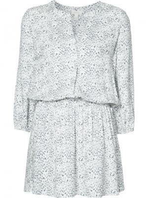 Короткое платье с V-образным вырезом Joie. Цвет: белый