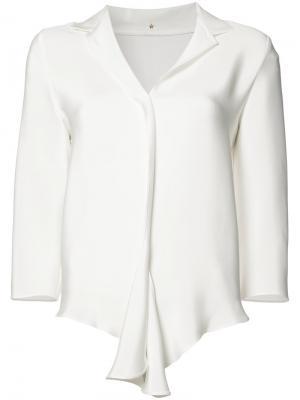 Блузка с V-образным вырезом Peter Cohen. Цвет: белый