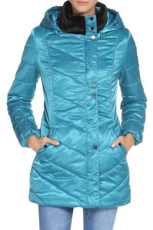 Куртка DizzyWay. Цвет: бирюзовый