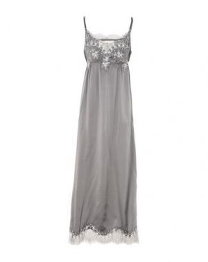 Длинное платье PINK MEMORIES. Цвет: серый