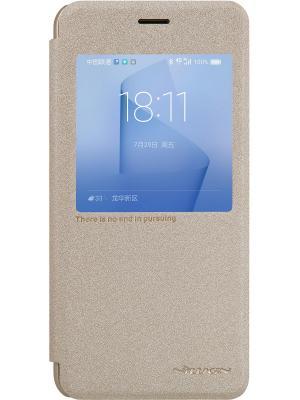 Чехол-книжка Nillkin Sparkle Leather Case для Huawei Honor 8. Цвет: золотистый