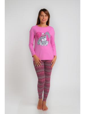 Пижама О'девайте!. Цвет: коричневый, розовый