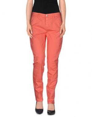 Повседневные брюки UP ★ JEANS. Цвет: коралловый