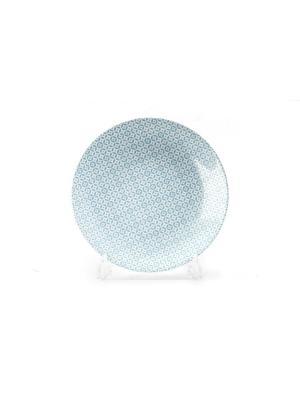 Тарелка 27 см TUNISIE PORCELAINE. Цвет: голубой