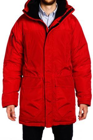 Куртка XASKA. Цвет: красный