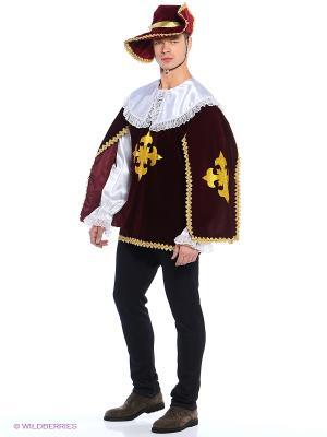 Карнавальный костюм МУШКЕТЁР бордо (для взрослых) Батик. Цвет: бордовый