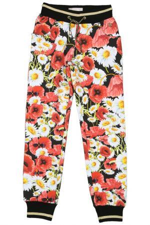 Спортивные брюки STEFANIA. Цвет: черный, красный