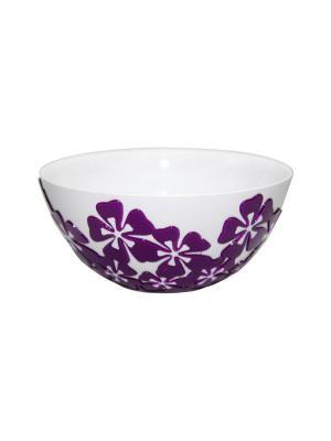 Салатник Камелия 1,4л. (фиолетовый) Альтернатива. Цвет: белый, фиолетовый