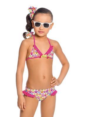 Купальник для девочек Arina. Цвет: бирюзовый,розовый,белый