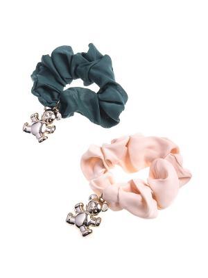 Резинка для волос (Комплект - 2 шт.) Migura. Цвет: розовый,золотистый,зеленый