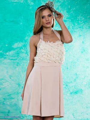Платье MIMI LA RUE. Цвет: бежевый