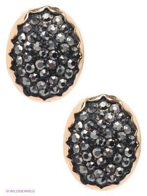 Серьги Royal Diamond. Цвет: черный, золотистый