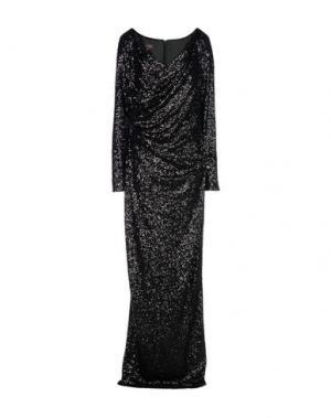 Длинное платье TALBOT RUNHOF. Цвет: черный