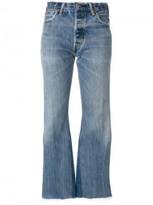 Укороченные брюки клеш Re/Done. Цвет: синий