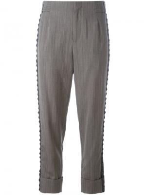 Укороченные брюки 162 Parent A.F.Vandevorst. Цвет: серый