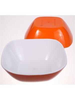 Салатница малая, 270 мл, оранжевая, набор 2 штуки Радужки. Цвет: оранжевый