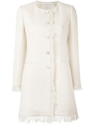 Frayed edge buttoned jacket Tagliatore. Цвет: телесный