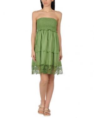 Пляжное платье MISS NAORY. Цвет: зеленый-милитари