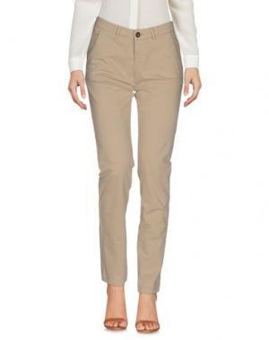 Повседневные брюки REIKO. Цвет: бежевый