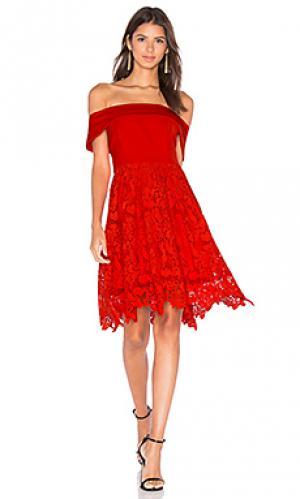 Платье make me wonder Lumier. Цвет: красный