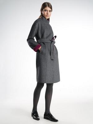 Пальто Pompa. Цвет: темно-серый