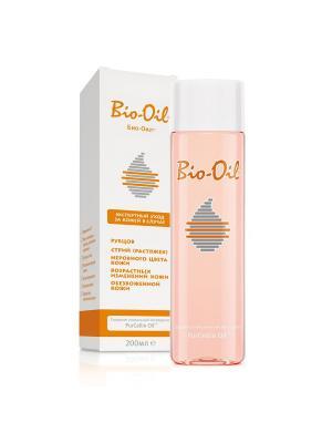 Масло косметическое от шрамов, растяжек, неровного тона, 200мл Bio-Oil. Цвет: прозрачный