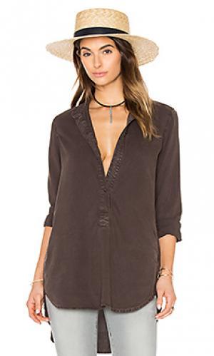 Туника с карманом Bella Dahl. Цвет: коричневый