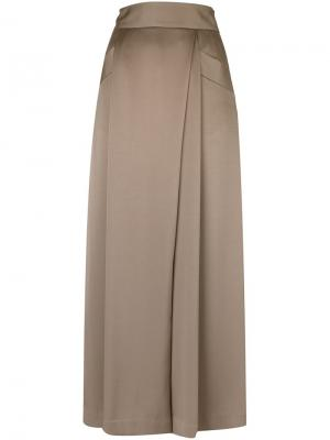 Широкие брюки со складками Mame. Цвет: телесный