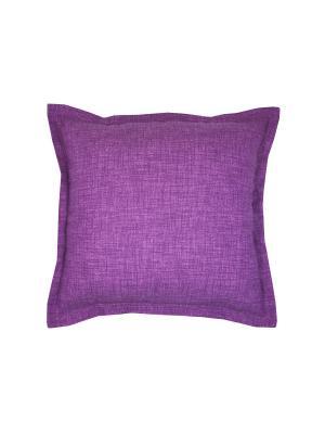 Подушка Lilac Lino T&I. Цвет: лиловый