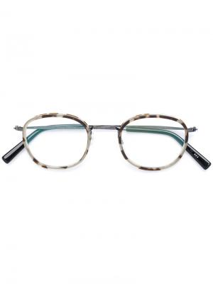 Tortoiseshell round glasses Masunaga. Цвет: серый