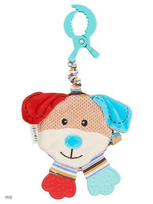 Подвеска-книжка с шуршалкой  Собачка Билли Жирафики. Цвет: голубой, красный, белый, коричневый