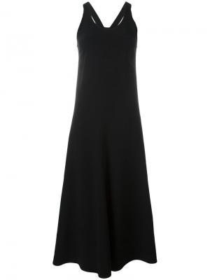 Длинное платье со спинкой-рейсер Joseph. Цвет: чёрный