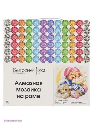 Мозаика на подрамнике. Два медвежонка (250-ST-S) Белоснежка. Цвет: белый