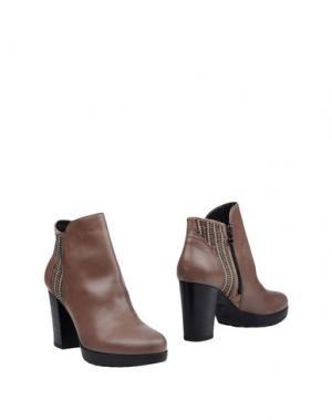 Полусапоги и высокие ботинки JANET SPORT. Цвет: светло-коричневый