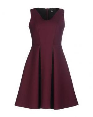 Короткое платье 1-ONE. Цвет: красно-коричневый