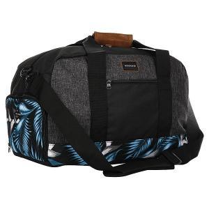 Сумка спортивная  Medium Shelter Bonnie Blue Classic Quiksilver. Цвет: черный,серый,голубой