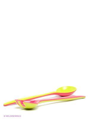 Набор для салата Zak!designs. Цвет: малиновый, салатовый