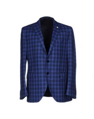 Пиджак LUIGI BIANCHI Mantova. Цвет: пастельно-синий