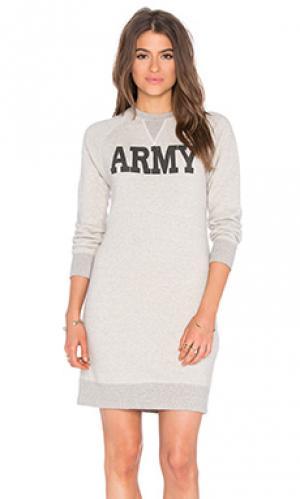 Платье-толстовка army NLST. Цвет: серый
