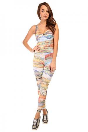 Комбинезон для фитнеса женский  Supplex Overall Multi/Stripes CajuBrasil. Цвет: мультиколор