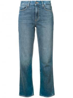 Укороченные джинсы Paige. Цвет: синий