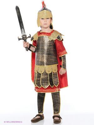 Карнавальный костюм РИМСКИЙ ВОИН Батик. Цвет: коричневый, красный