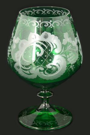 Набор бокалов для бренди 6 шт. Bohemia. Цвет: зеленый