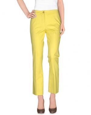 Повседневные брюки LABORATORIO. Цвет: желтый